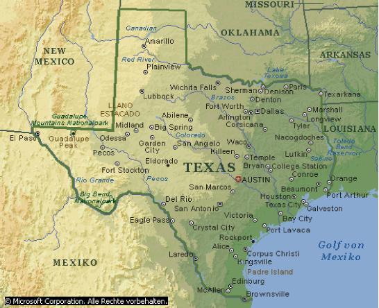 Wo ist texas