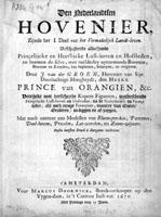 Den Nederlandtschen hovenier - Groen, J. van der