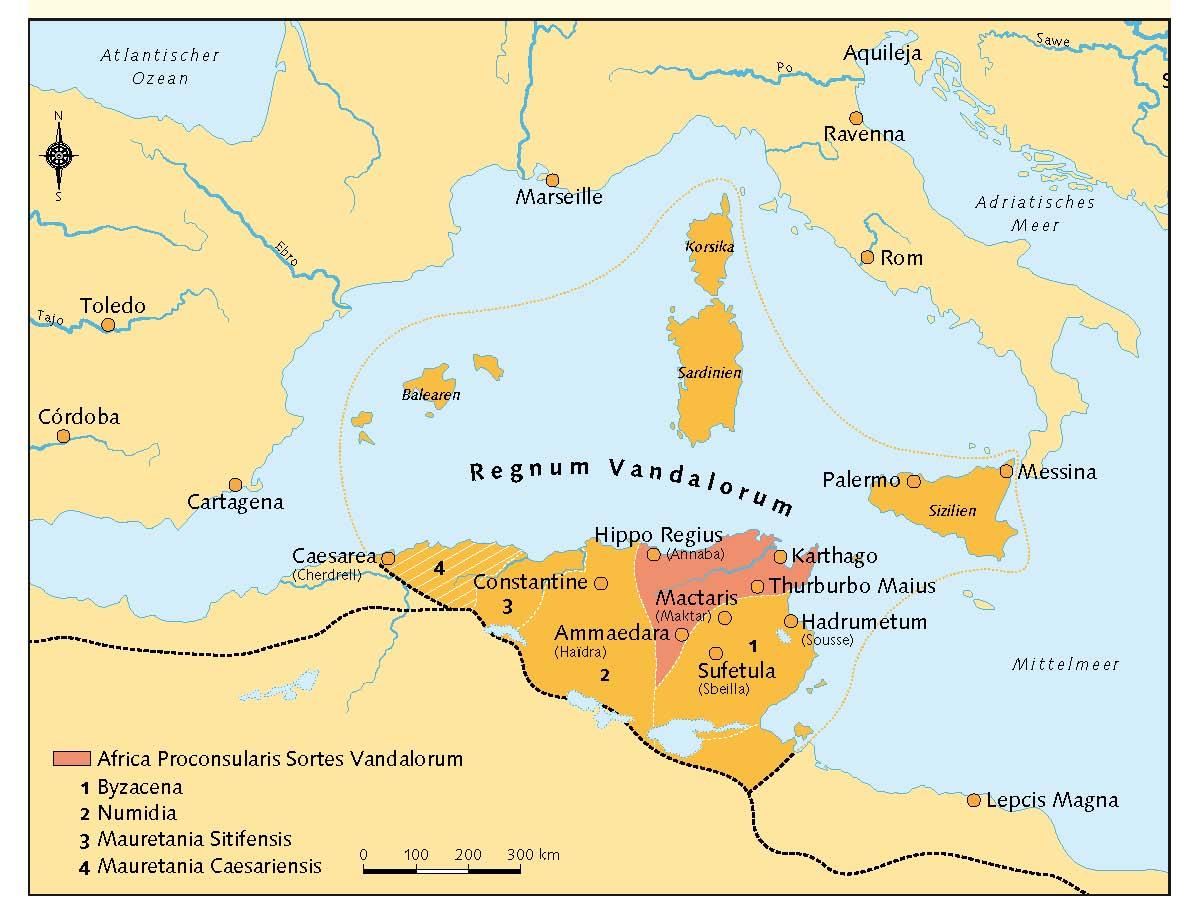 mittelmeerinseln karte Erben des Imperiums in Nordafrika   Das Königreich der Vandalen mittelmeerinseln karte