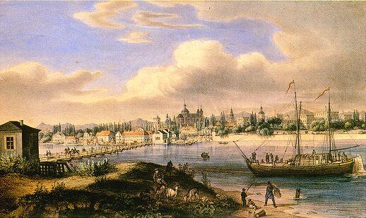 Mannheim, die Schiffsbrücke