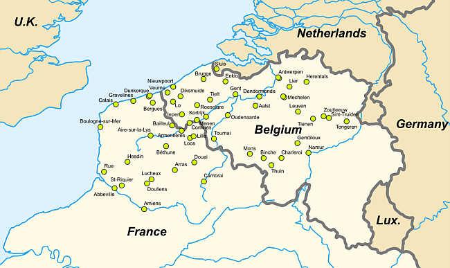 Nordfrankreich Karte.Belfriede